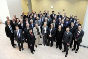 08.02.2012 EnBW City Stuttgart, Gruppenfoto Mitglieder des Berufsverbands Financial Experts