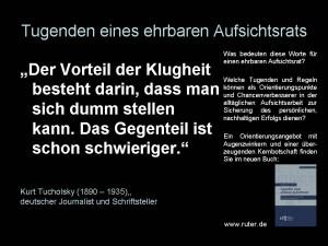 95 Tugenden eines ehrbaren Aufsichtsrats - Kurt Tucholsky - Tugenden eines ehrbaren Aufsichtsrats