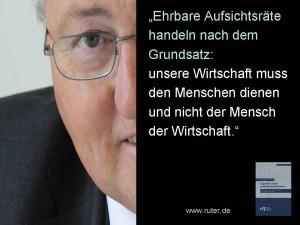 Rudolf X. Ruter - Wirtschaft und Mensch - Tugenden eines ehrbaren Aufsichtsrats