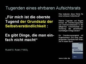 51 Tugenden eines ehrbaren Aufsichtsrats - Rudolf X. Ruter - Tugenden eines ehrbaren Aufsichtsrats