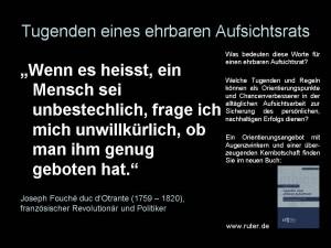 00 Tugenden eines ehrbaren Aufsichtsrats - Joseph Fouché - Tugenden eines ehrbaren Aufsichtsrats